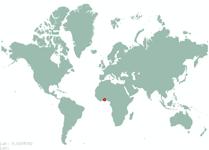 Addis Ababa in world map